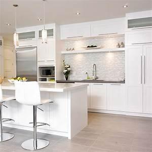 cuisines beauregard cuisine realisation 242 cuisine With idee deco cuisine avec armoire scandinave bois