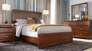 Belcourt Cherry 5 Pc Queen Panel Bedroom - Queen Bedroom