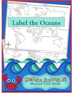 Label the Oceans Worksheet Free