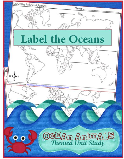 *free* Label The Oceans Worksheet  Life Of A Homeschool Mom