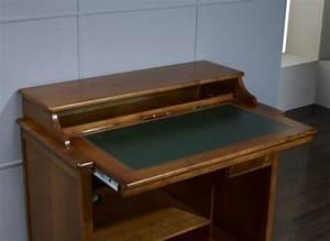 petit bureau informatique malorie en merisier de style With petit meuble merisier louis philippe