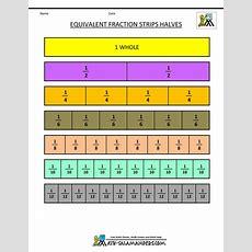 Fraction Strip  Equivalent Fractions