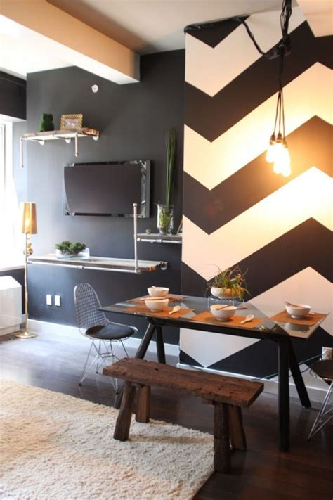 fashionable geometric decor ideas   dining space