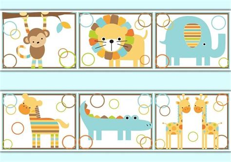 Baby Jungle Animals Wallpaper Border - jungle wallpaper border decals baby boy nursery room