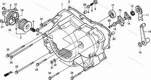 Honda Atv 2001 Oem Parts Diagram For Crankcase Cover  Fr