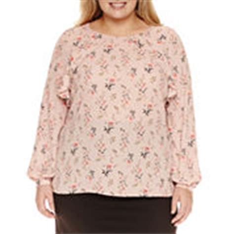jcpenney plus size blouses worthington plus size sleeve tops for jcpenney