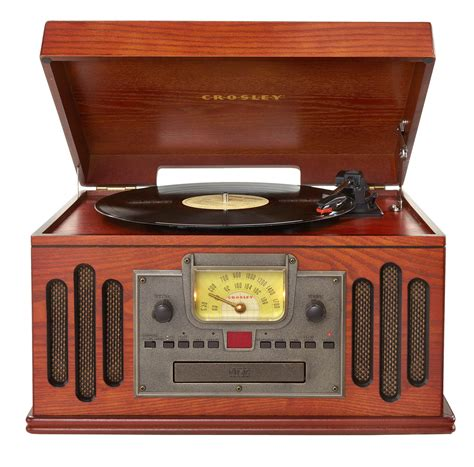 crosley crc pa musician turntable  radio cd player