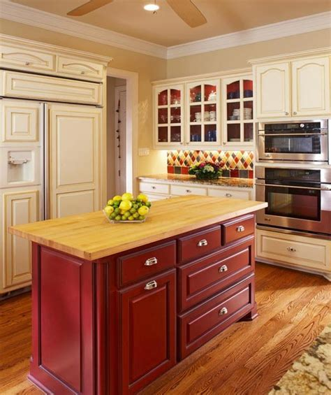 Make your kitchen island stand out   with paint or stain