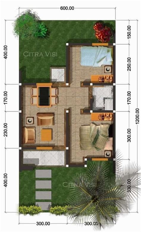 gambar rumah minimalis ukuran  gambar denah rumah