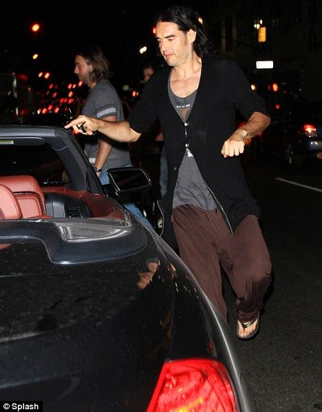 russell brand car truck crashes into russell brand s rented lamborghini