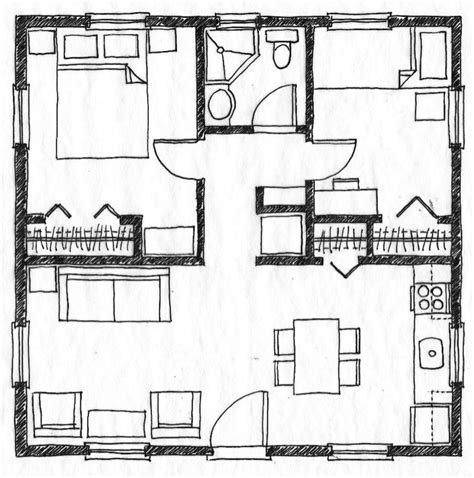 house plans in suite planta de casas quadradas já sabia