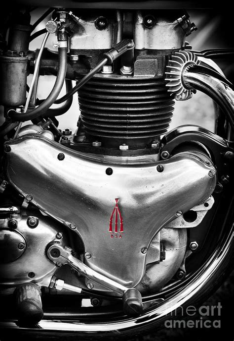 bsa a10 golden flash engine photograph by tim gainey