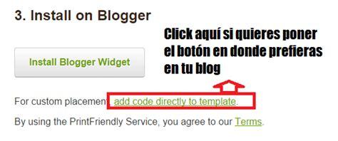Donde Colocar Los Widgets Limo Template by C 243 Mo A 241 Adir Un Bot 243 N Para Imprimir En Tu Web Diarios De