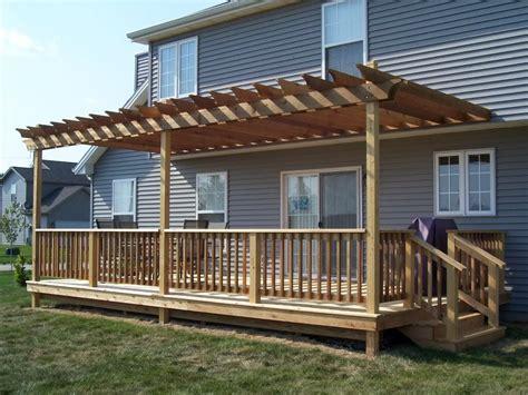 build pergola raised deck deck  pergola outdoor