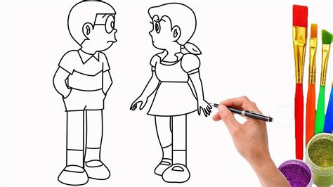 coloring nobita nails