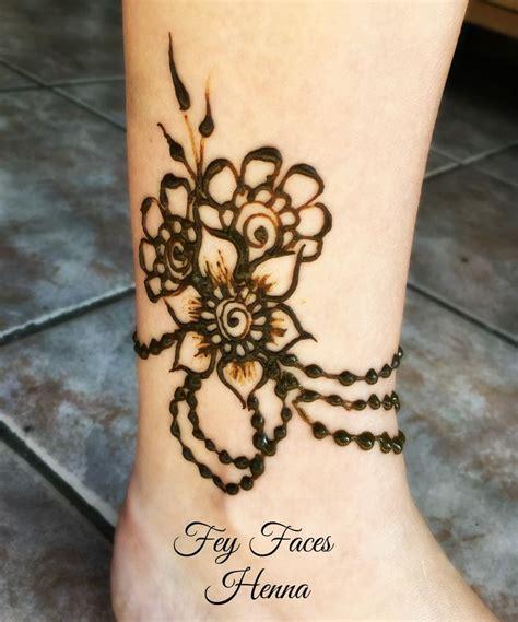 ankle henna tattoo ideas  pinterest henna