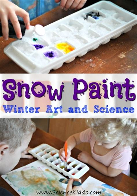 real snow activities for toddlers my bored toddler 519 | 1 Snow Paint winter art science