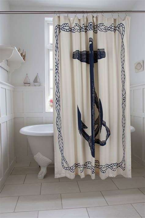 nautical anchor shower curtain  main anchor shower