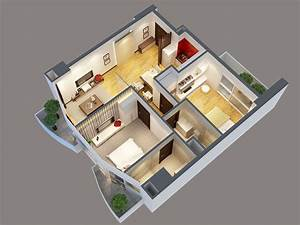 Detailed, Interior, Apartment, 3d, Model, 3d, Model