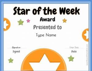 poster template student of the week poster template With star of the week poster template