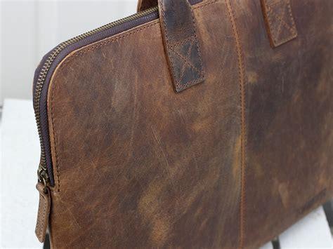 gorgeous leather laptop bag for scaramanga