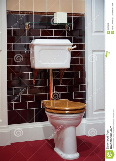 pull chain wall light toilet in fashioned style royalty free stock photo
