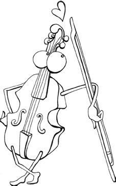 violin coloring pages  kids printable  coloring