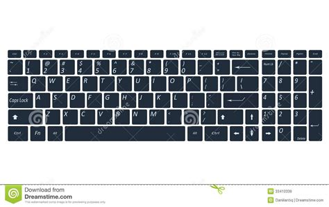 Computer Keyboard Black And White Clipart