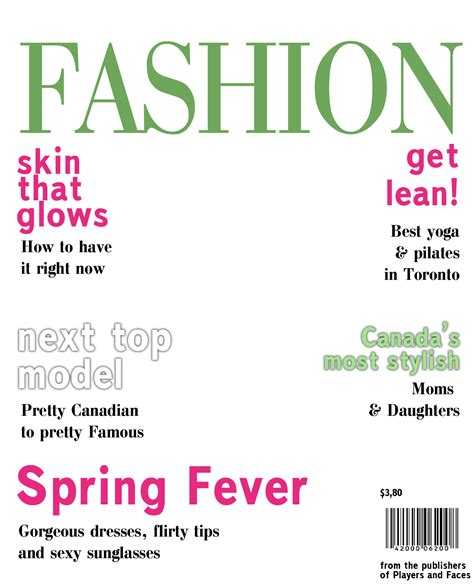 blank fashion magazine cover templates pictures  pin