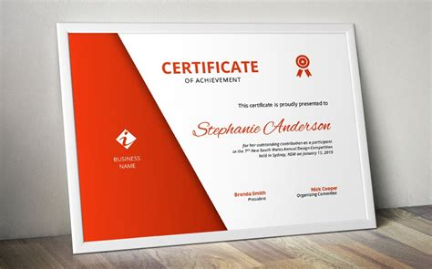 simple corporate certificate stationery templates