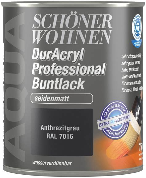 Fliesenfarbe Grau by Sch 246 Ner Wohnen Farbe Buntlack 187 Duracryl Professional