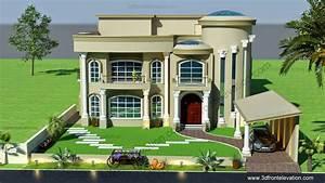 3d Front Elevation Com  Beautiful Modern Villa Design 2015