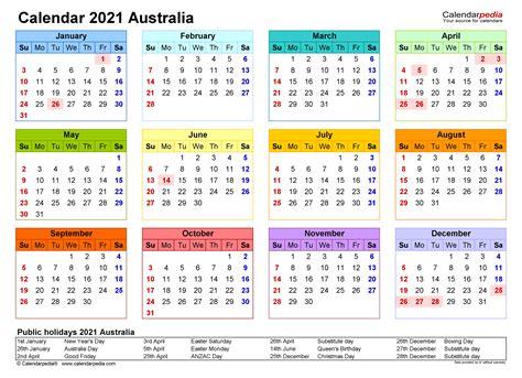 17+ 2021 Calendar Australia With Public Holidays Printable  Background