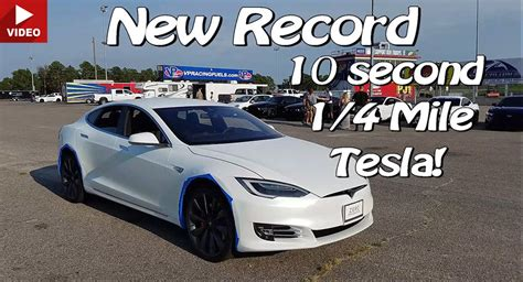 Watch A Tesla Model S P90d Complete The Quarter Mile In 10