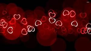 Glowing hearts wallpaper