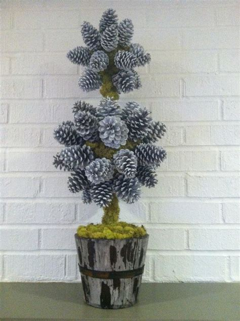 Pine Cone Christmas Topiary Tree by NatureColorLovers on