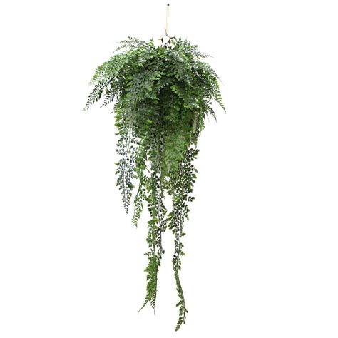 FERN IN SMALL HANGING BASKET 90CM UE  Artificial Plants