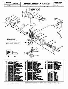 Mcculloch Mac Cat 441 Chainsaw Service Parts List