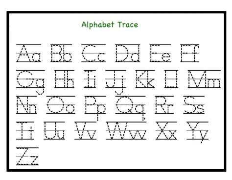 free printable letter tracing worksheets pdf for