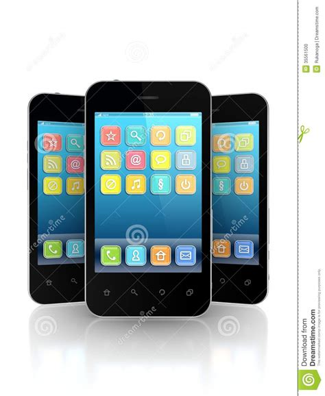 modern smartphone modern mobile phones stock photo image 35561500
