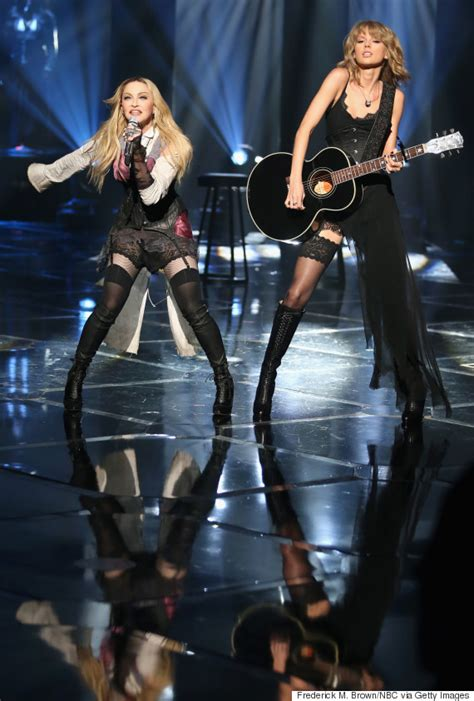 madonna performs  single ghosttown  taylor swift