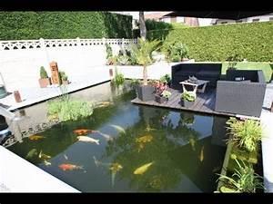 Jardin Avec Bassin : r novation et cuvelage de bassin de jardin avec soudoplast youtube ~ Melissatoandfro.com Idées de Décoration