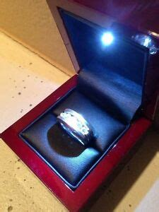 Ring Box With Light by New Rosewood Style Jewelry Ring Box With Led Light Lighted