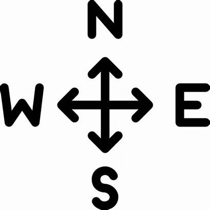 North South Direction East West Arrow Icon