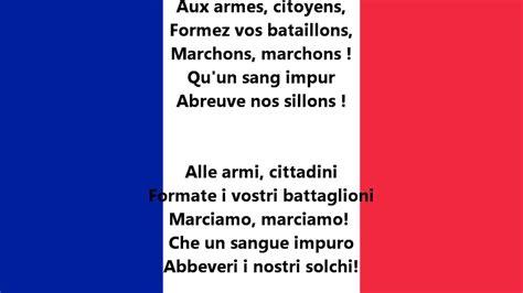 Testo Inno Nazionale Francese Inno Nazionale Della Francia La Marsigliese Fr It