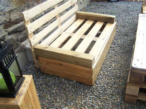 plan chaise de jardin en palette salon de jardin en palette zôdio canapé