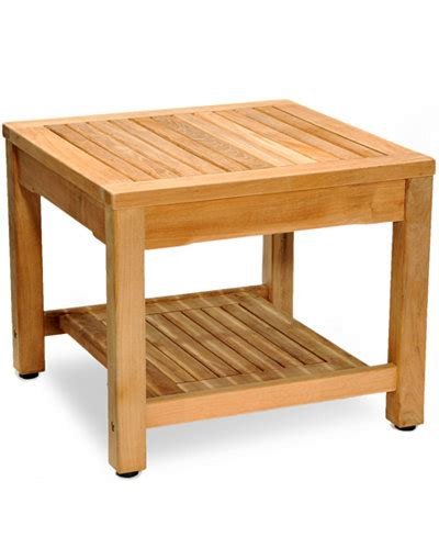 teak outdoor side table furniture macys