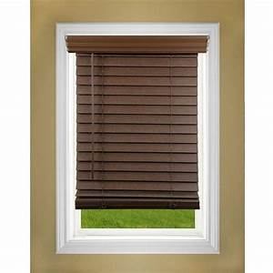 Perfect Lift Window Treatment Dark Oak 2 in Cordless Faux