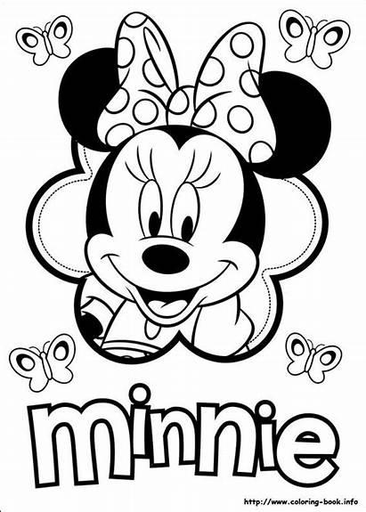 Mouse Minnie Mickey Coloring Printable Birthday Cake