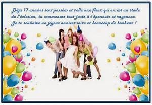 Texte Anniversaire 1 An Garçon : texte anniversaire 17 ans fille fumcwhittier ~ Melissatoandfro.com Idées de Décoration